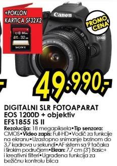 Digitalni fotoaparat Eos 1200d + objektiv Efs1855 Is II