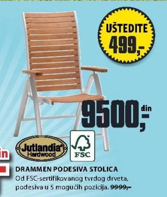 Podesiva stolica Drammen
