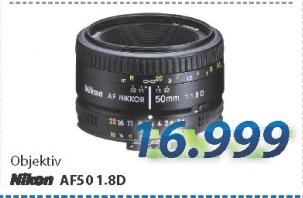 Objektiv AF50 1.8D