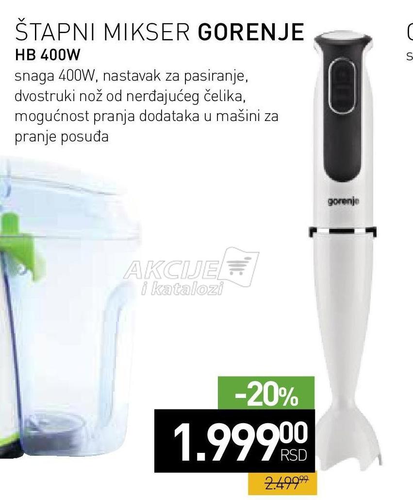 Štapni mikser HB 400W