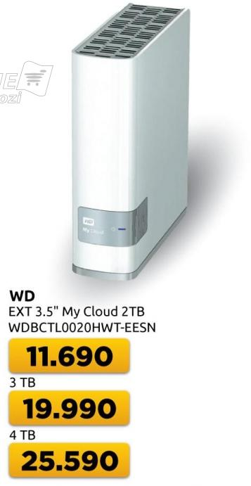 Eksterni hard disk WD My Cloud 3TB
