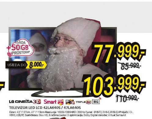 Televizor 3D LED LCD 47LA640S
