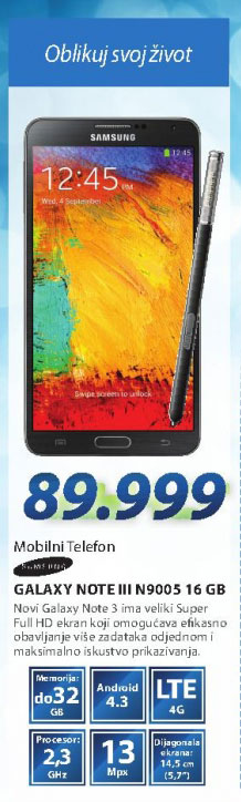 Mobilni telefon  GSM Smartphone GSM NOTE III BEO N9005