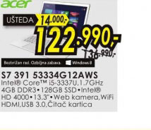 Laptop Aspire Ultrabook S7 391 53334G12AWS