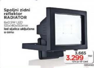 Spoljni zidni reflektor Radiator