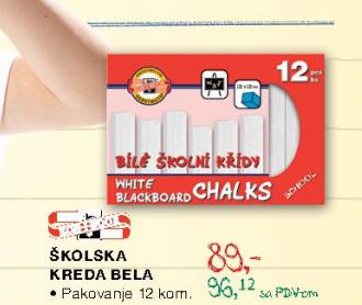 Školska kreda bela