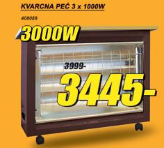 Kvarcna peć 3x1000W