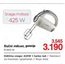 Ručni mikser M 605 W