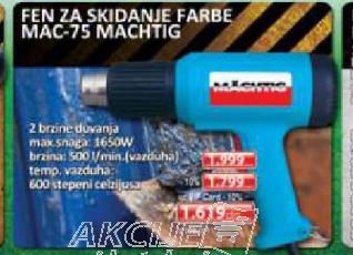 FEN ZA SKIDANJE FARBE MAC-75