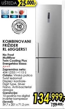 Kombinovani frižider Rl60gqerS1