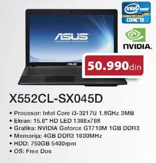 Laptop X552cl-Sx045d