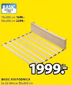 Podnica Basic A10 70x200cm