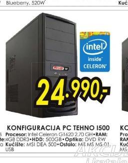 Konfiguracija PC TEHNO I500