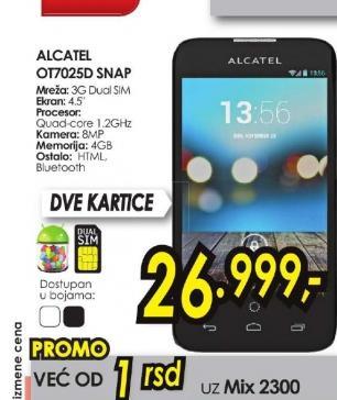 Mobilni telefon One Touch Snap OT-7025SNAP