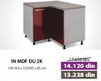 Kuhinjski element In Mdf DU 2K Bordo sjaj