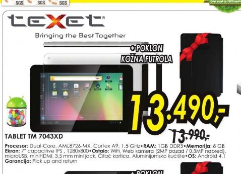 Tablet TM-7043XD
