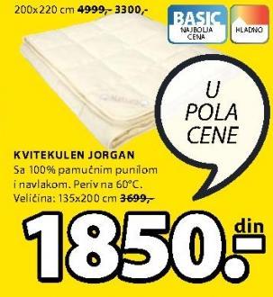 Jorgan Kvitekulen 135x200cm