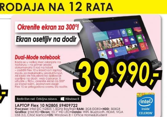Laptop Flex 10 N2805 59409722