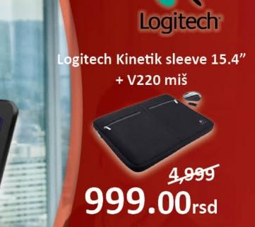 """Torbe za laptop računare Kinetik sleeve 15,4"""" + v220 miš"""