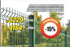 Ograda panelna plastificirana