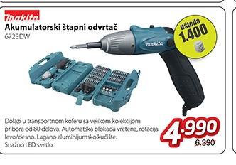 Akumulatorski štapni odvrtač 6723DW