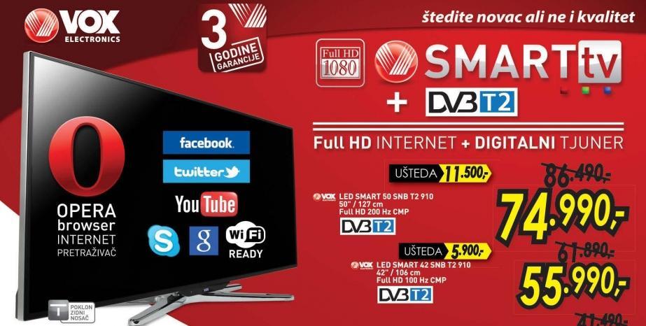 """Televizor LED 50""""  Snb T2 910"""