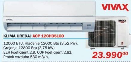 Klima uređaj Acp 12ch35lco