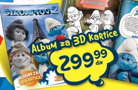 Album za 3D kartice Štrumpfovi