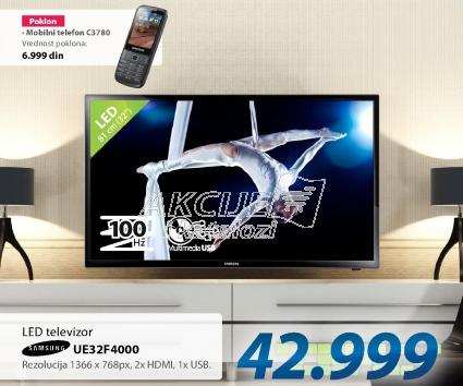 LED Televizor Samsung UE32-F4000 + Poklon mobilni telefon C3780 Samsung
