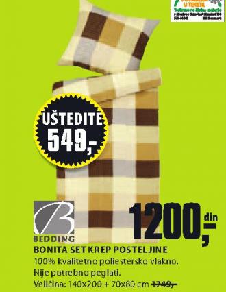 Set krep posteljilne Bonita, 140x200
