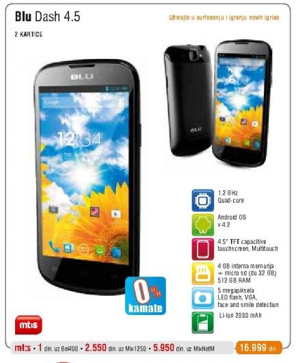 Mobilni telefon Dash 4.5