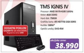 Računar TMS Ignis IV + poklon Gigabyte GK-KM5300RS