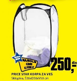 Korpa za veš Price Star