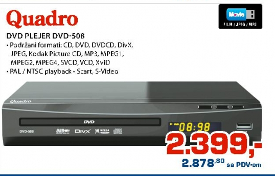 Dvd Plejer Dvd-508