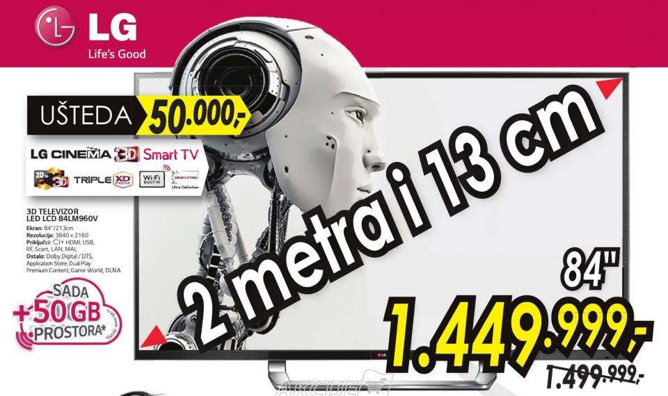 Televizor  3D LED LCD 84LM960V