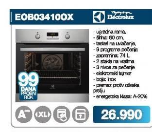 Šporet E0B034100X