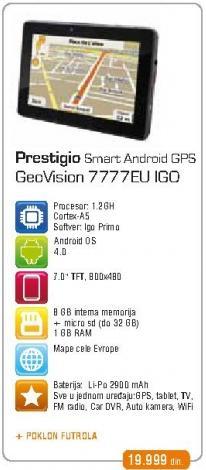 Navigacija GeoVision 7777Eu Igo + Poklon Futrola