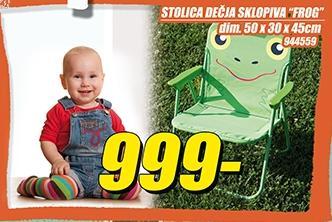 Stolica dečja sklopiva Frog