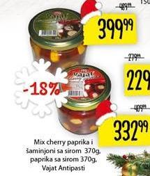 Šampinjoni i cherry paprika sa sirom