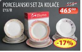 Porcelanski set za kolače LY07R