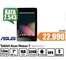 """Outlet-Tablet Nexus 7 1B075A IPS 7"""""""