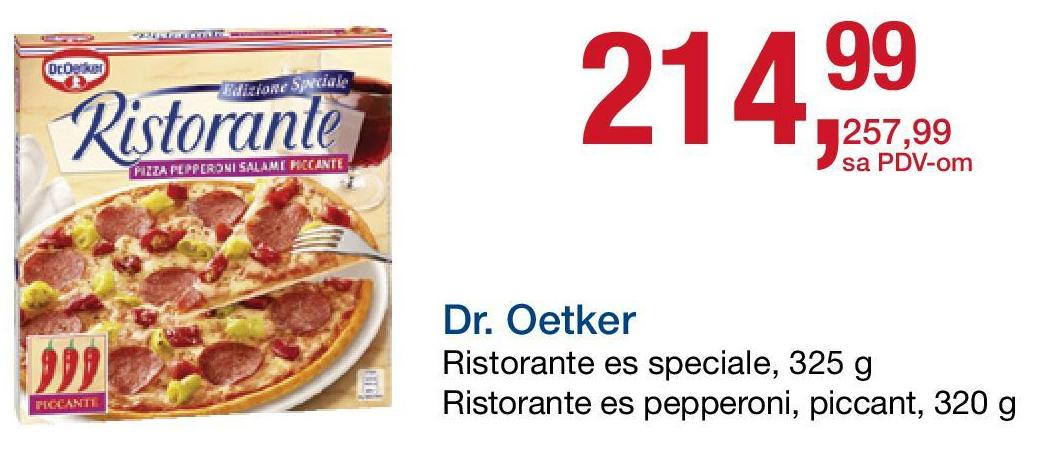 Smrznuta pizza es salame