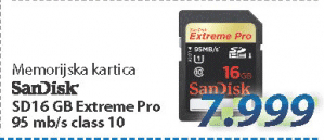 Memorijska SD kartica 16GB Extreme Pro