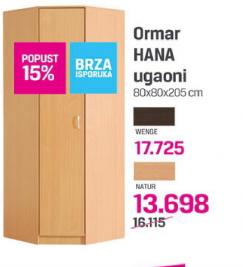 Ormar Hana ugaoni