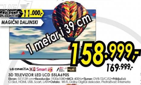 """Televizor LED 55"""" 3D 55LA690S"""