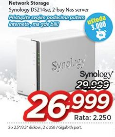 Network storage Ds214se Synology