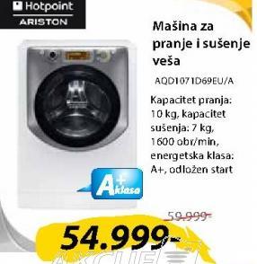Mašina Za Pranje I Sušenje Veša AQD1071D69EU/A