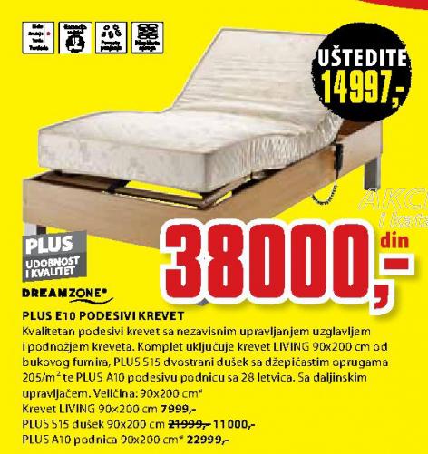 Dušek, Plus S15 90x200 cm