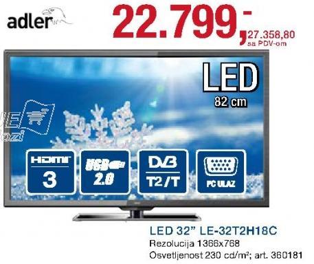 """Televizor LEC 32"""" Le-32t2h18c"""