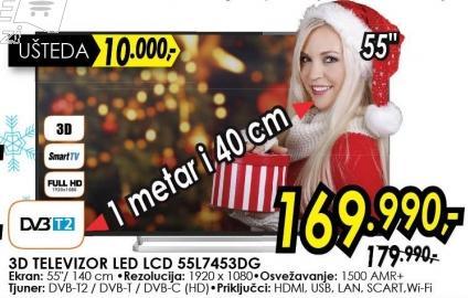 """Televizor LED 55"""" 3D 55l7453dg"""